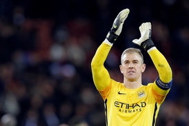 Brankář Manchesteru City Joe Hart.