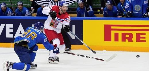 Česká hokejový útočník Robert Kousal.