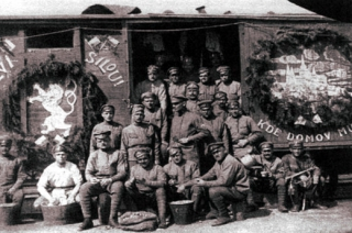 Čeští legionáři v Rusku.