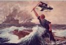 Němečtí námořníci na dobové pohlednici.