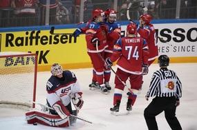Ruská radost v utkání s USA.