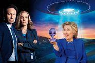Zvolte mě, ukážu vám UFO! Clintonová našla téma