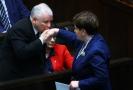 Bývalý polský premiér Jaroslaw Kaczyński se současnou premiérkou Beatou Szydlovou.