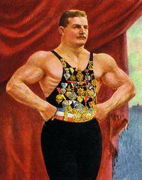 Slavný český zápasník Gustav Frištenský žil v litovelském pivovaru deset let se svou manželkou Miroslavou.