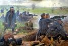 Rakouští vojáci na východní frontě na obraze Karl Friedricha Gsura (1871-1939).