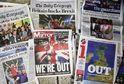 Britský tisk informuje o odchodu z EU.