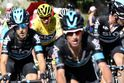 Chris Froome a jeho tým na Tour de France