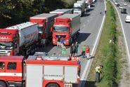Hromadná nehoda na D1 zastavila provoz směr Brno