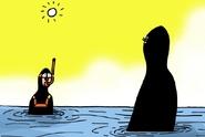 Potápeč, tetování... Kreslíři si utahují ze zákazu burkin