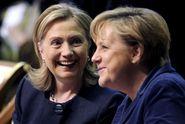 Merkelová má obdiv Clintonové i Trumpa