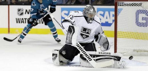 Brankář Los Angeles Kings Jonathan Quick.