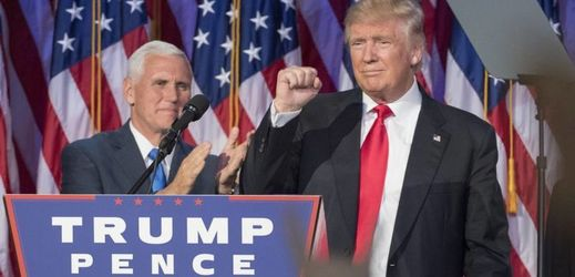 Donald Trump a Mike Pence.