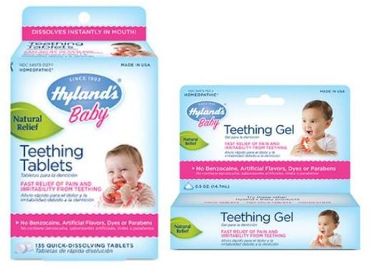 Homeopatika od firmy Hyland´s Teething Tablets.