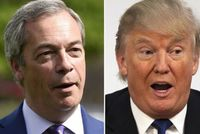 Nigel Farage (vlevo) a Donald Trump.