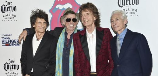 Legendární The Rolling Stones. Zleva: Ronnie Wood, Keith Richards, Mick Jagger a Charlie Watts.