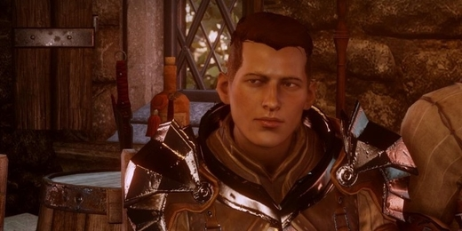 Transgender postava ze hry Dragon Age: Inquisition.