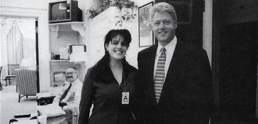 Bill Clinton a Monika Lewinská, 1995.