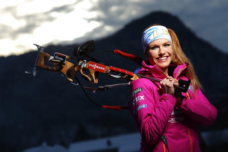 cff93e4f3 Česká biatlonová hvězda nemá zimu příliš v lásce. Přesto fotografům Empresa  Media ochotně pózovala i