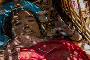 Divočina na Bali ukrývá posvátné pohřebiště a oltář lebek