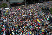 Protesty ve Venezuele.