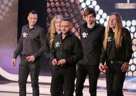 Skupina Ortel na slavnostním vyhlášení výsledku ankety Český Slavík 2016.