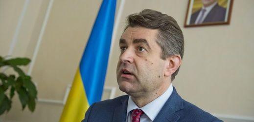 Nový ukrajinský velvyslanec v České republice Jevhen Perebyjnis.