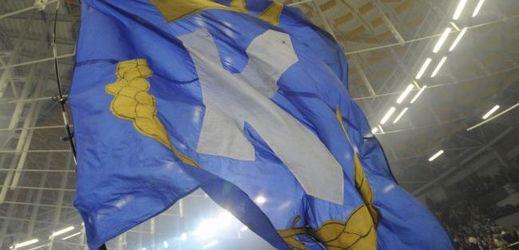Vlajka HC Kometa Brno.