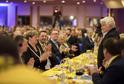 Snímek z volebního sjezdu KDU-ČSL v Praze, přítomen byl i bývalý předseda vlády a Senátu Petr Pithart (vpravo).