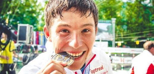 Kanoista Jiří Prskavec s bronzovou medailí z mistrovství Evropy