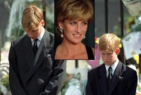 Princ William, princ Harry a princezna Diana.