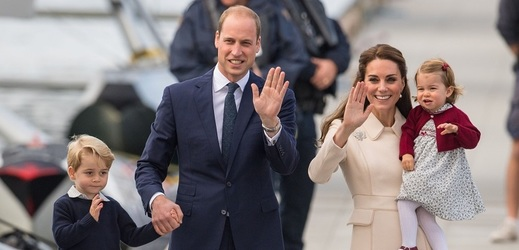 Princ William s Kate a dětmi.