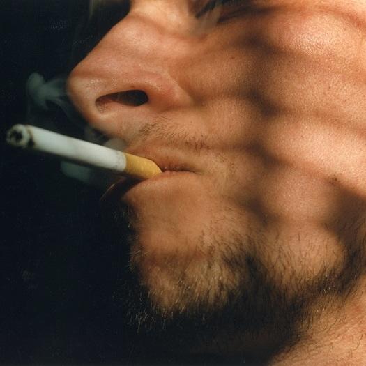 během dne šlapky kouření