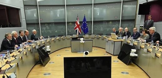 Schůzka vyjednavačů pro brexit.