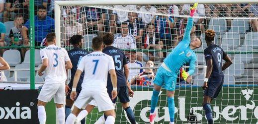 Slovenští fotbalisté neudrželi vedení s Anglií.