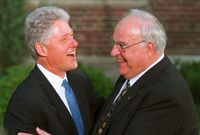 Bill Clinton a Helmut Kohl.