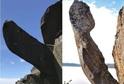 Skalní výběžek zvaný Trollpikken (trolí penis).