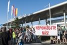 Stávka zaměstnanců bratislavské továrny německé automobilky Volkswagen.