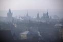 Praha ve smogu.