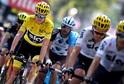 Britský cyklista Chris Froome (ve žlutém).