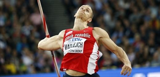 Jakub Vadlejch (na snímku) skončil v osobním rekordu druhý, český úspěch podtrhl bronzem Petr Frydrych.