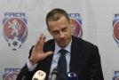 Předseda UEFA Aleksander Čeferin na návštěvě v České republice.