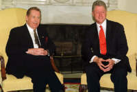 Václav Havel a Bill Clinton.