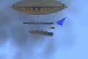 První řídící vzducholoď.