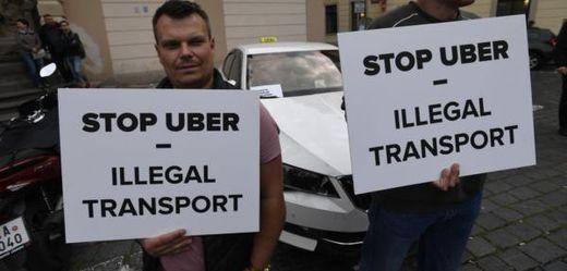 Protest proti Uber.