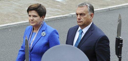 Polská premiérka Beata Szydlová a maďarský premiér Viktor Orbán.