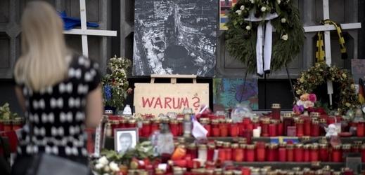 Pietní místo teroristického útoku v Berlíně.