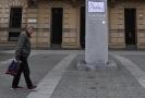 """Na soše Masaryka už v minulosti visela dečka s nápisem """"Žasnu""""."""