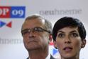 Místopředsedkyně TOP 09 Markéta Pekarová Adamová a předseda strany Miroslav Kalousek.