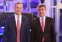 Jaromír Soukup (vlevo) a Andrej Babiš.
