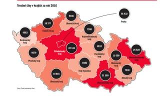 Tyden Cz Mapa Kriminality Kde Se Nejvic Vrazdi Krade A Kde Loupi
